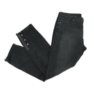 Cache Skinny Slim Fit Leg Jean Sz 12 Black Stretch